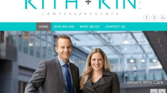 law firm website homepage