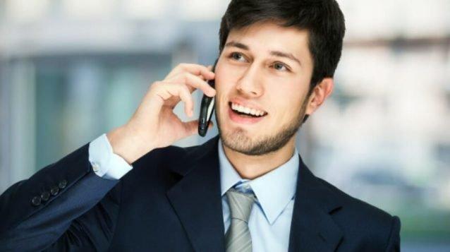 business man talking on phone