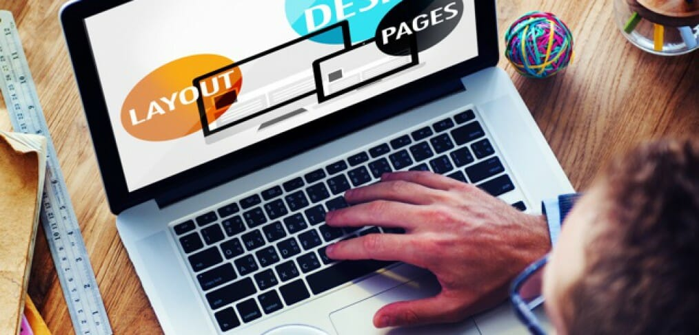web design layout pages