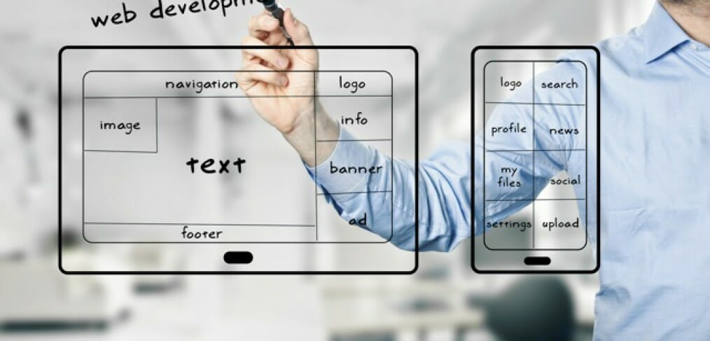 web development layout