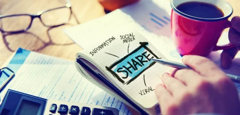 social media strategy on a notepad