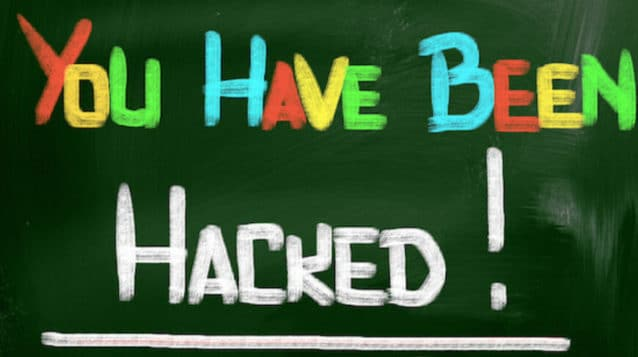You Have Been Hacked Concept. Protect your website from hackers.