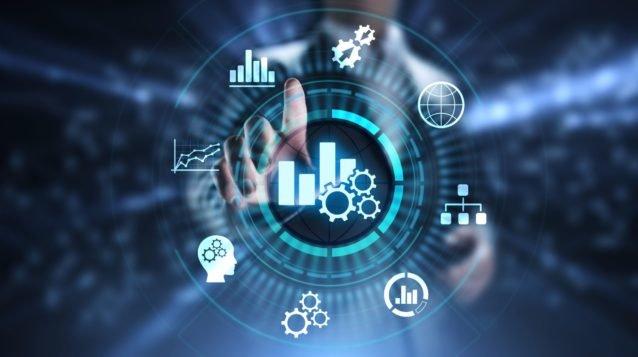 Business analytics intelligence analysis BI big data technology concept