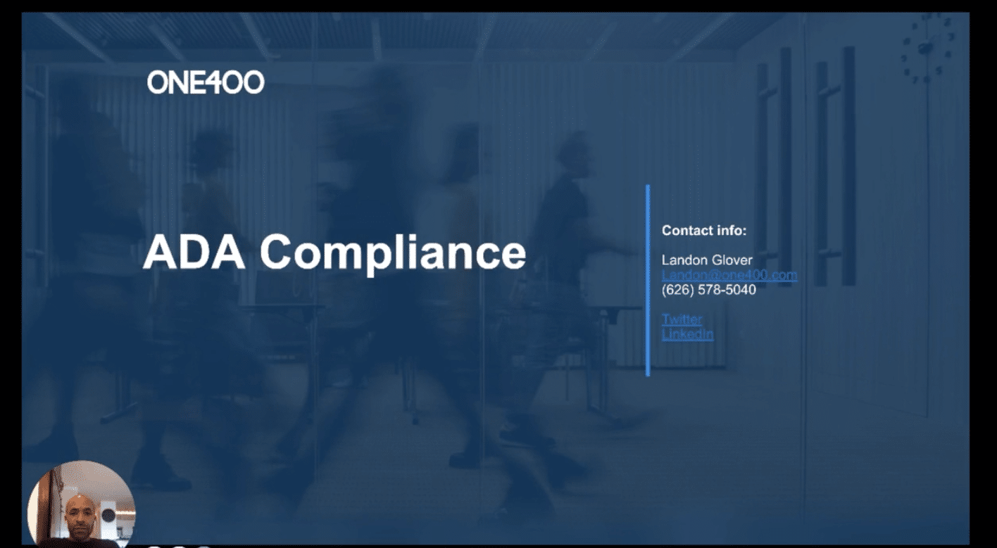 ADA compliance for your law firm website concept.