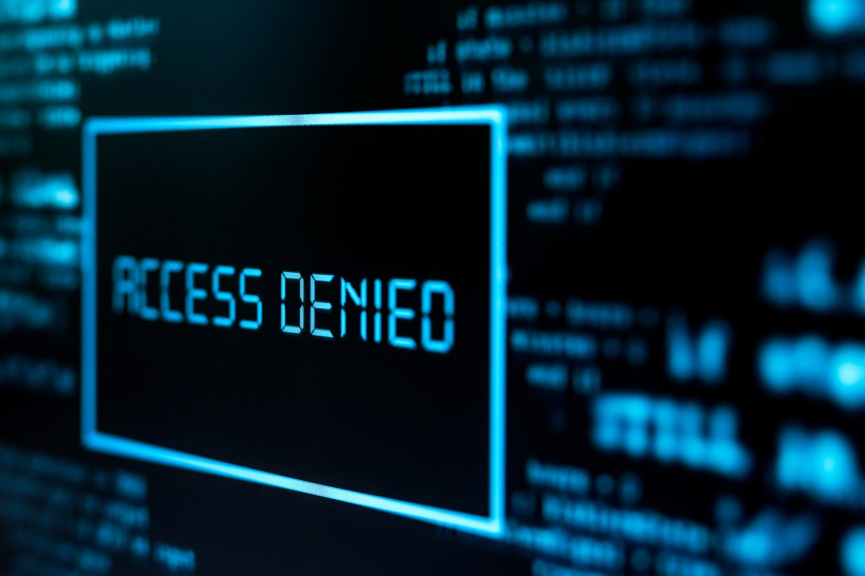 access denied due to early damage control after a data breach